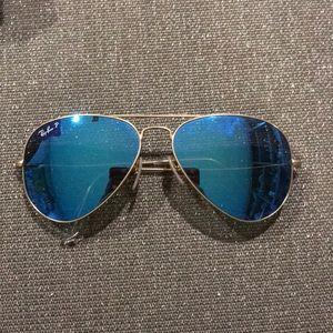 Ray-Ban Aviators (Blue Mirrored) (Polarized)